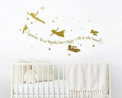 Second Star to the right - Peter Pan Wall Decal, Tinkerbell
