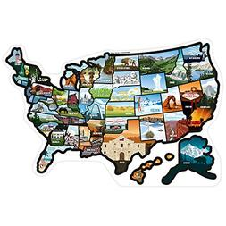 SEE MANY PLACES .com RV State Stickers U...