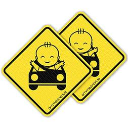 Best See-Thru Baby On Board Sticker For Smart Parents, Unobs