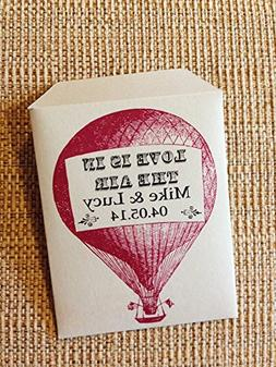 Seed packet hot air balloon wedding favors - 30