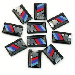 10pcs Self-Adhesive M Tec Sport BADGE STICKER EMBLEM fits BM