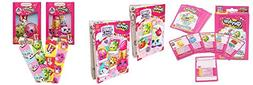 Shopkins Coloring Book Card Game Crayons Sticker Activity Gi
