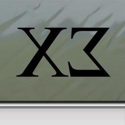"Sigma Chi - Black Decal - 4"" wide decal laptop tablet skateb"