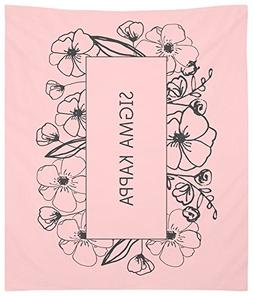 Sigma Kappa Flower Box Wall Tapestry for Bedroom or Dorm