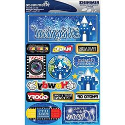 Reminisce Signature Dimensional Stickers Sheet, 4.5 by 6-Inc