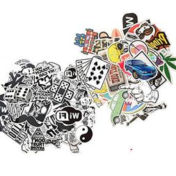 Dotiow Skateboard Luggage Stickers No Duplicated White Black