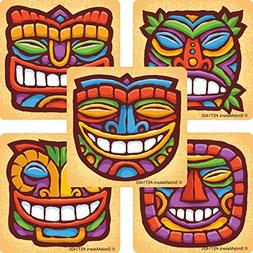 Smiling Tikis Stickers - Prizes and Giveaways - 100 per Pack