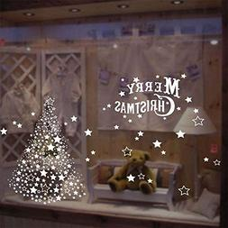 wzzliuhewuzi Snow Ball Windows Decals Removable Windows Deco
