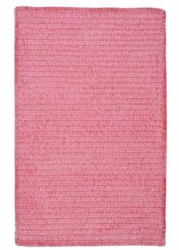 Solid Rug Braided Textured 2ft. x 3ft. Rose Carpet for Kids/