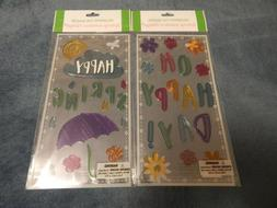Spring Gel Clings  - Window Classroom Decorations Decor - Te