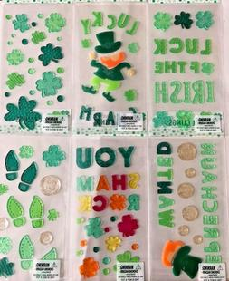 St Patrick's Day  Shamrock Irish  Window Gel Sticker Cling t