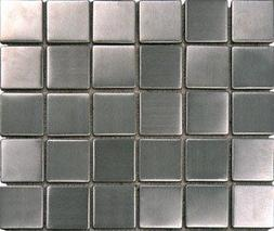 Stainless Steel Metal 2x2 Mosiac Sheets for Backsplash, Show
