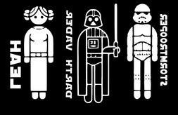 star wars family car decal 1 quantity