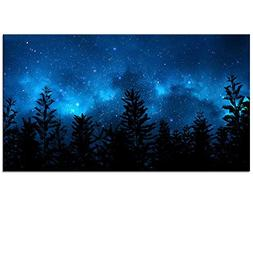 Starry Night Forest Canvas Wall Art Prints,Landscape Canvas
