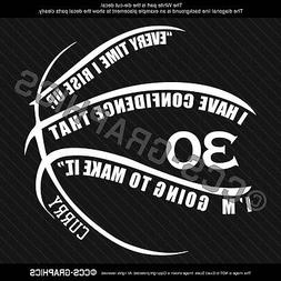 STEPHEN CURRY QUOTE Decal golden state warriors vinyl car wi