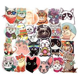 Homyu Stickers Pack 50-Pcs Decals of Cute Cat Animal Sticker