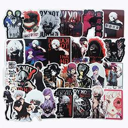 Homyu Stickers Pack 50-Pcs Decals of Tokyo Ghoul Anime for L