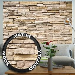 Wall Mural Stone Optic 3D Mural Decoration Stone Wallpaper W