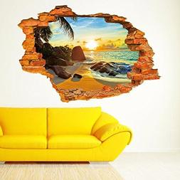 Sucis 3D Beautiful and peaceful Sunset Beach Scenery Removab