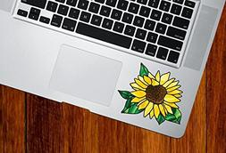 Sunflower - D2 - Stained Glass Style Vinyl Decal for Laptop