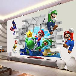 Super Mario 3D Kids Nursery Removable Wall Decal Vinyl Stick