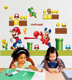 Fangeplus Super Mario Bros Wall Stickers Nursery Children Fa