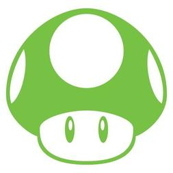 Super Mario Brothers Mushroom Decal Nitrous Kart Sticker Lim