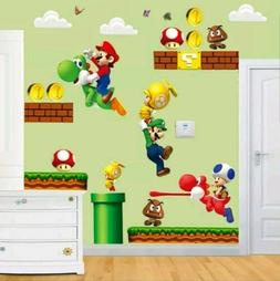 Super Mario Brothers Wall Decal 3D Stickers Mural Childs Roo