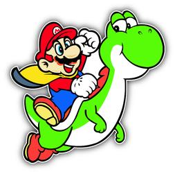Super Mario Dinosaur Cartoon Car Bumper Sticker Decal 5'' x