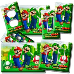 SUPER MARIO LUIGI BROS LIGHT SWITCH OUTLET WALL PLATE COVER