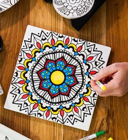 Reuseit Color-In Surface Saving Trivet With Markers - Mandal