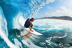Surfer wave photo wallpaper - surfer catching a wave mural -