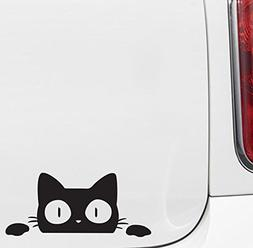 Yadda-Yadda Design Co. Surprise Cat Peeking Over - Vinyl Car