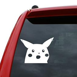 "Surprised Pika 5"" x 6.5"" Tall Vinyl Decal Window Sticker for"