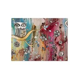 Surreal Owl Colorful Boho Wall Hanging Art Tapestry. Mixed m
