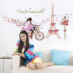 Kaimao Sweet Romance Fairy Princess Flower Butterfly Wall St