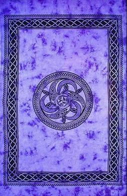 "Tapestry ""Celtic Chakra"" Purple 69 x 108 - FREE SHIPPING"