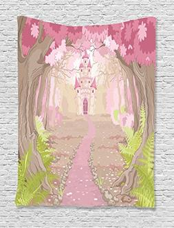 Ambesonne Teen Girls Decor Collection, Path to the Fairy Tal