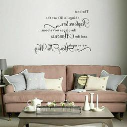 The Best Things In Life Quote Wall Stickers Bedroom Living R