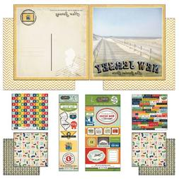 Scrapbook Customs Themed Paper and Stickers Scrapbook Kit, N