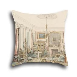 Throw Pillow Covers Of Oil Painting Dominique Hagen - An Int