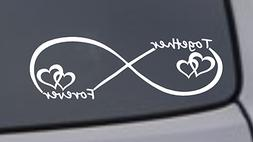 TOGETHER FOREVER INFINTY Vinyl Decal Sticker Car Window Bump