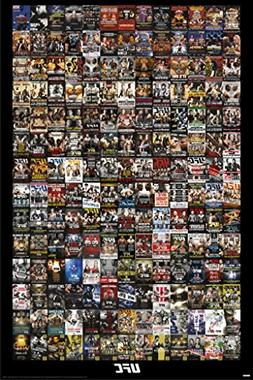 Pyramid America UFC Events Collage Sports Poster 24x36 inch