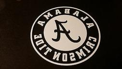 UNIVERSITY OF ALABAMA CRIMSON TIDE 5X5 car Decal stickers