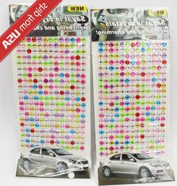 US Lot 2 Color Crystals 520 5mm Dot Rhinestone car decal acr