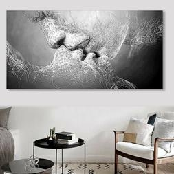 US Ture Love Kiss Abstract Art on Canvas Painting Wall Art P