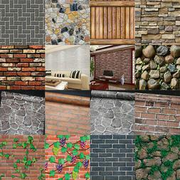USA 3D Vintage Wall Paper Brick Stone Effect Rolling Wallpap