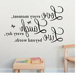 Ussore Wall Sticker Live Love Butterfly Wall Stickers Home D