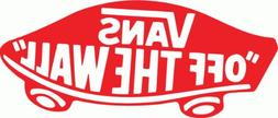 "Vans Off The Wall Snowboard Bumper Sticker 6"" x 3"""