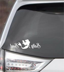 Vinyl Decal ... * SALTY SOUL Mermaid * .. Car Salt Life Lapt